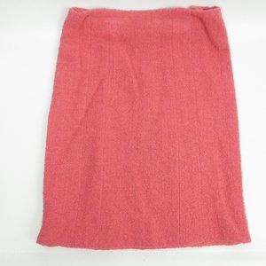 CHANEL Pink Boucle Skirt Wool/Silk